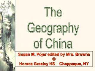 The Geography of China