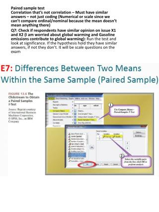 Q7 paired sample
