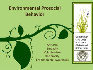Environmental  Prosocial  Behavior