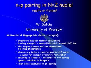 n-p pairing in N=Z nuclei