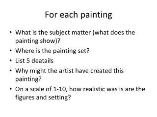 For each painting