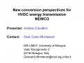 New conversion perspectives for HVDC energy transmission NEWCO