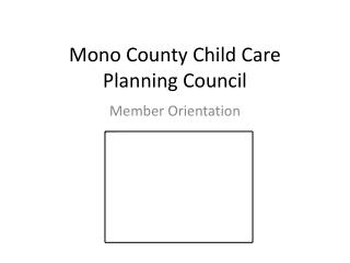 Mono County Child Care Planning Council