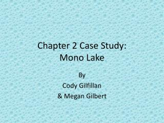 Chapter 2 Case Study: Mono Lake