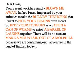 Dear Class,