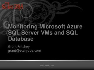 Monitoring Microsoft Azure SQL Server VMs and SQL Database