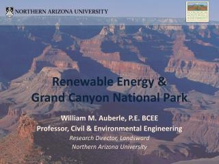 William M. Auberle, P.E. BCEE Professor, Civil & Environmental Engineering
