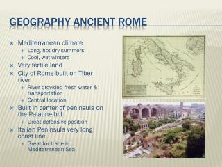 Geography Ancient Rome