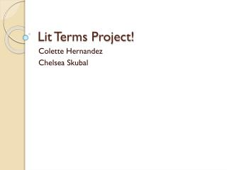Lit Terms Project!