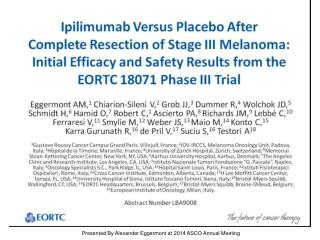 Presented By Alexander Eggermont at 2014 ASCO Annual Meeting