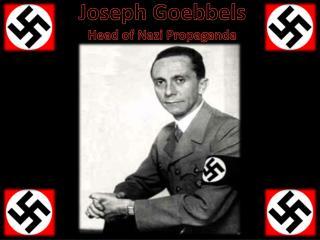 Joseph Goebbels Head of Nazi Propaganda