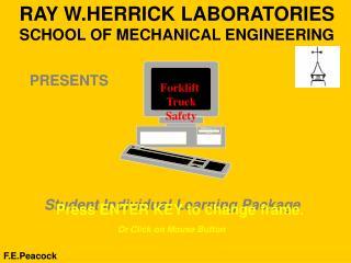 RAY W.HERRICK LABORATORIES SCHOOL OF MECHANICAL ENGINEERING