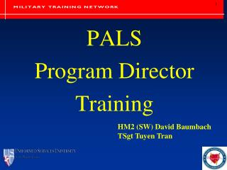 PALS  Program Director Training