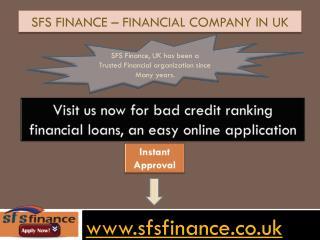 SFS Finance – Financial company in UK