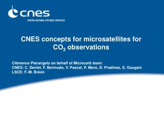 CNES concepts for microsatellites for  CO2 observations