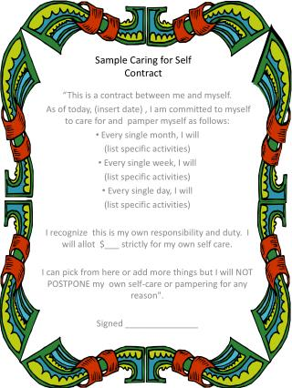 Sample Caring for Self Contract