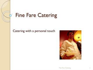 Fine Fare Catering
