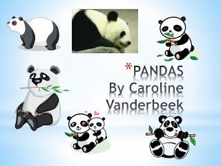 PANDAS By Caroline  Vanderbeek