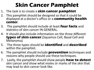 Skin Cancer Pamphlet