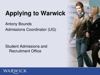 Applying to Warwick