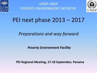PEI Regional Meeting, 17-18 September, Panama