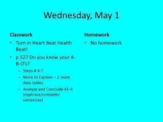 Wednesday, May 1