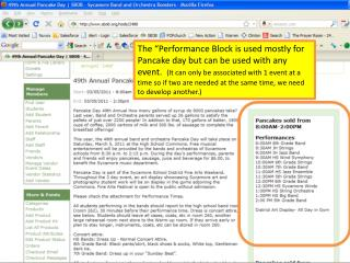 We must first go to the event the  the  performance block is going to be associated.