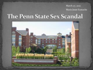 The Penn State Sex Scandal
