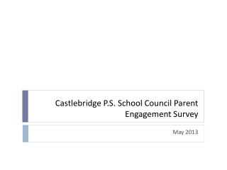 Castlebridge  P.S. School Council Parent  Engagement Survey