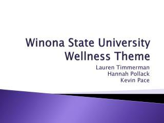 Winona State University Wellness Theme