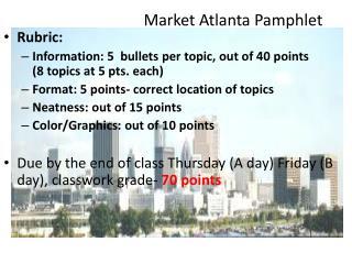 Market Atlanta Pamphlet