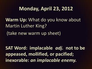 Monday, April 23, 2012