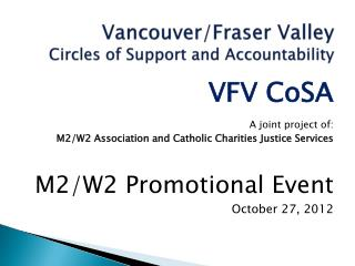 Vancouver/Fraser Valley Circles of Support and Accountability