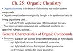 Ch. 25:  Organic Chemistry