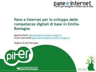 Pane e Internet per lo sviluppo delle competenze digitali di base in Emilia-Romagna
