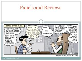 Panels and Reviews