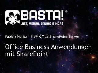 Office Business Anwendungen mit SharePoint