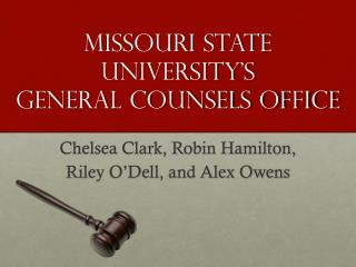 Missouri State University's General Counsels Office