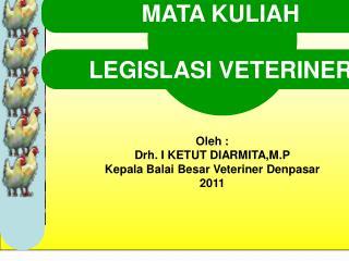 Curriculum Vitae Drh . I  Ketut Diarmita , M.P