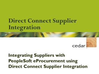Direct Connect Supplier Integration