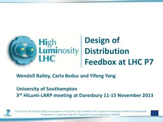 Design of Distribution  Feedbox at LHC P7
