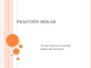 FRACCI�N MOLAR