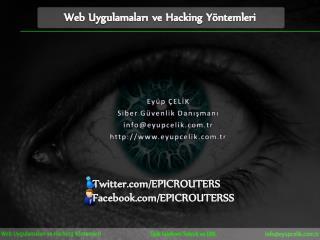 Web Uygulamaları ve Hacking Yöntemleri