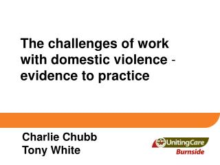 The challenges of work with domestic violence  -  evidence to practice