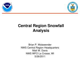 Central Region Snowfall Analysis