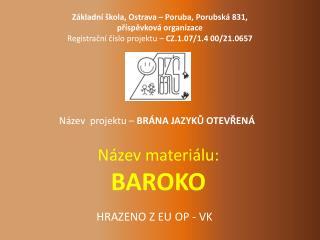 Název materiálu: BAROKO