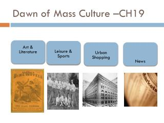 Dawn of Mass Culture –CH19