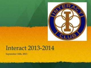 Interact 2013-2014