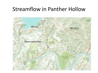 Streamflow  in Panther Hollow