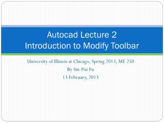 Autocad  Lecture 2 Introduction to Modify Toolbar